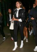 Olivia Culpo arrives with friends at the Justin Timberlake concert at the Staples Center in Los Angeles