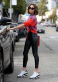 Olivia Culpo looks super chic in leather pants as she leaves the hair salon in West Hollywood, Los Angeles