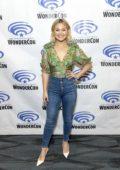 Olivia Holt attends 'Cloak & Dagger' press line during WonderCon 2019 in Anaheim, California