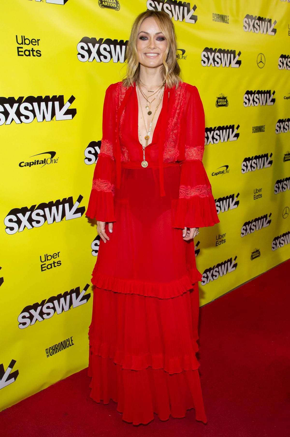 Olivia Wilde attends the 'Booksmart' Premiere during the 2019 SXSW at Paramount Theatre in Austin, Texas