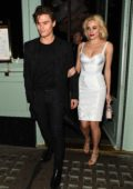Pixie Lott and Oliver Cheshire spotted leaving the Sexy Fish restaurant and bar in London, UK