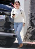 Rachel Bilson keeps it casual with a white sweater and jeans as she steps out for lunch in Los Feliz, California