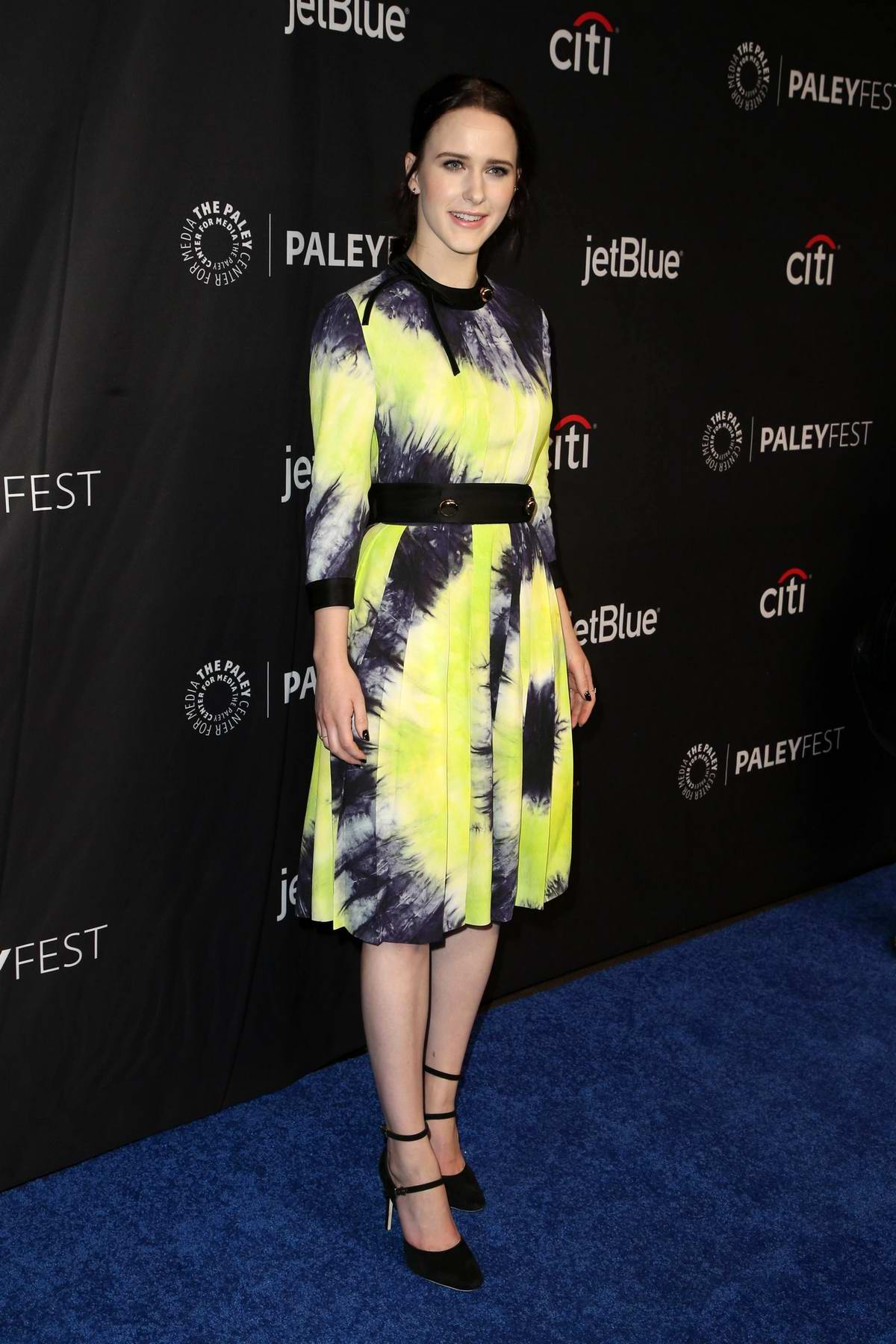 Rachel Brosnahan attends 'The Marvelous Mrs Maisel' TV Show Presentation during the 38th PaleyFest at the Dolby Theater in Los Angeles