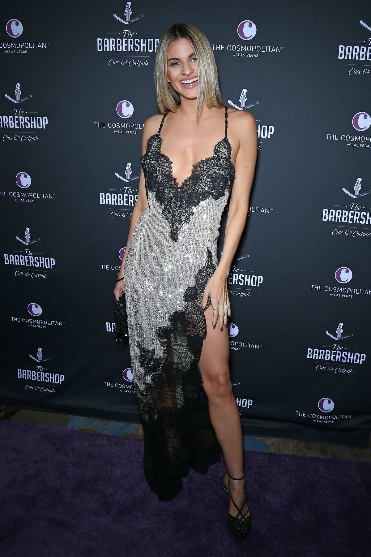 Rachel McCord attends the Grand Opening Weekend The Barbershop Cuts and Cocktails Day 2 in Las Vegas, Nevada