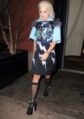 Rita Ora rocks a colorful look for the night in New York City
