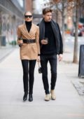 Romee Strijd and Laurens van Leeuwen steps out for a stroll in Manhattan, New York City