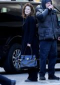 Rose Leslie and Michael Sheen are seen filming scenes for 'The Good Fight' in New York City