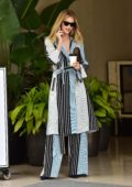 Rosie Huntington-Whiteley looks stunning in striped while out in Beverly Hills, Los Angeles