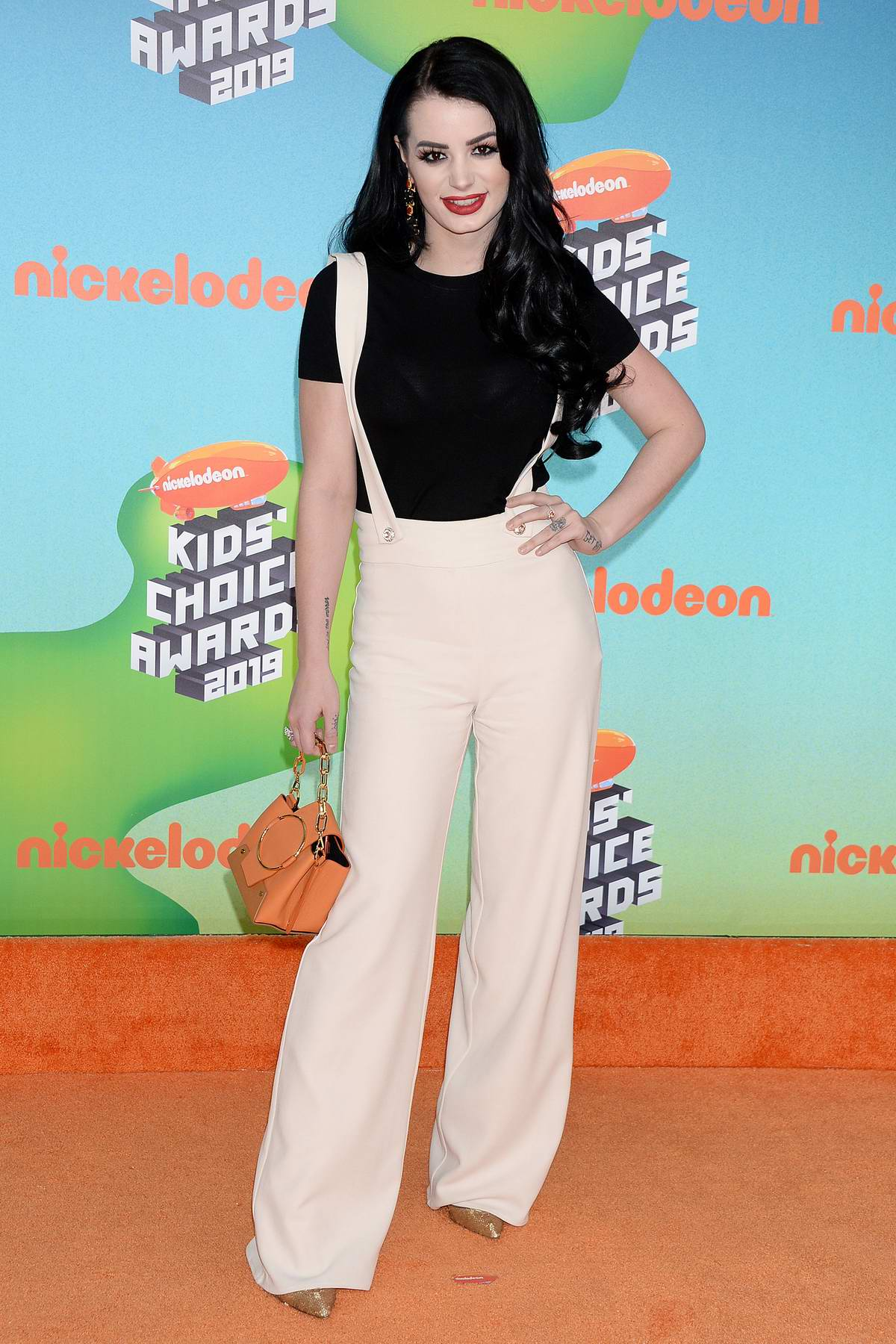Saraya-Jade 'Paige' Bevis attends the Nickelodeon's 2019 Kids' Choice Awards at Galen Center in Los Angeles