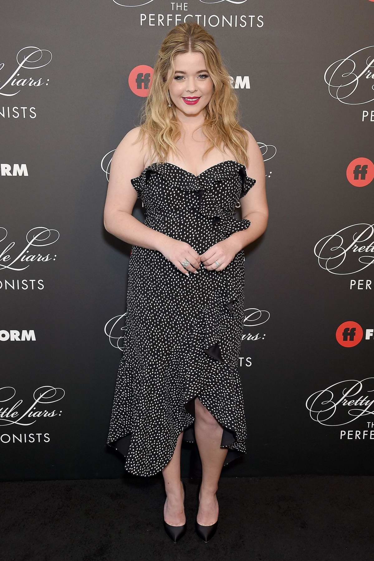 Sasha Pieterse attends 'Pretty Little Liars: The Perfectionists' premiere at Hollywood Athletic Club in Hollywood, California