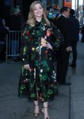 Sasha Pieterse looks lovely in a floral print dress as she promotes her new show on Good Morning America in New York City