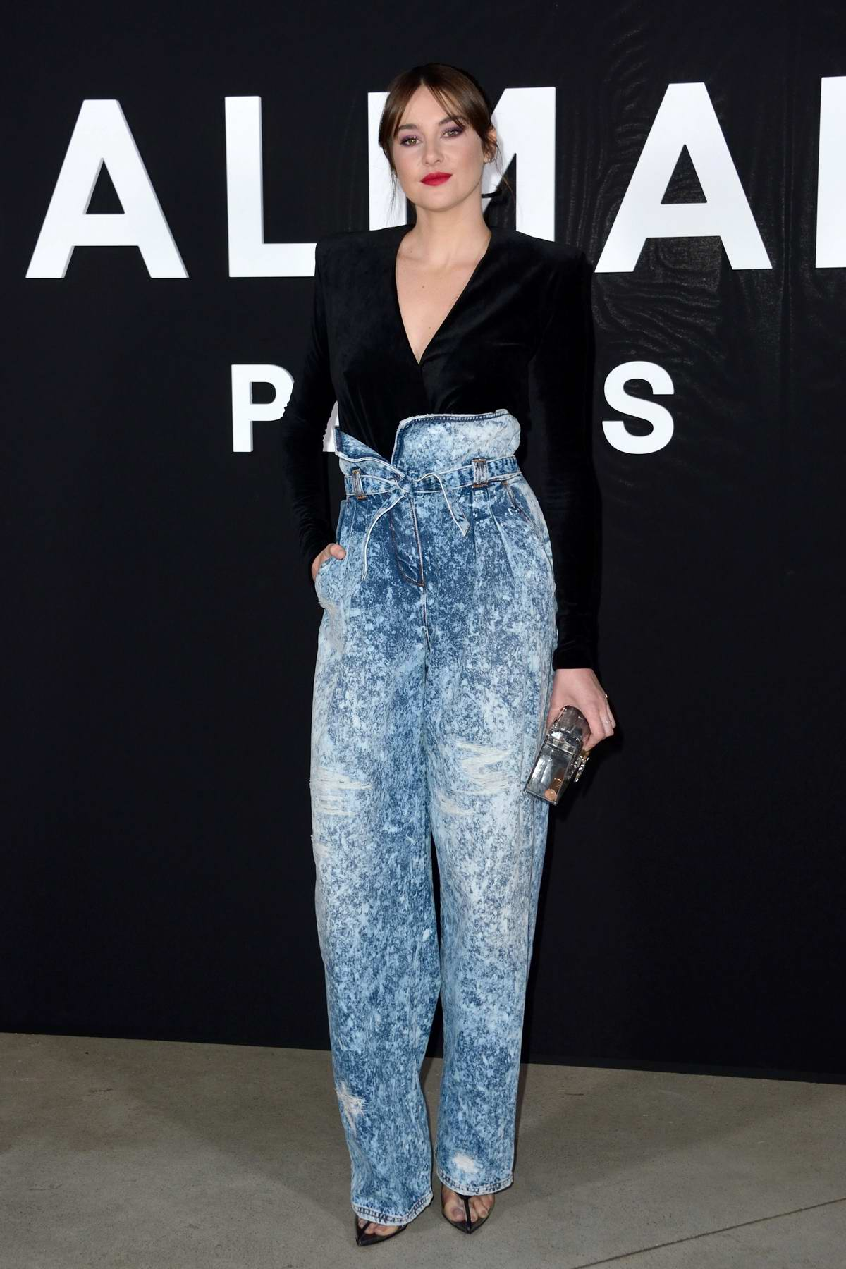 Shailene Woodley attends the Balmain show during the Paris Fashion Week Womenswear F/W 2019/20 in Paris, France