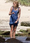 Sienna Miller spotted in denim overalls as she enjoys some downtime in Tulum, Mexico