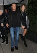 Sistine Stallone enjoys a family dinner with her parents Sylvester Stallone and Jennifer Flavin at Madeo restaurant in Beverly Hills, Los Angeles