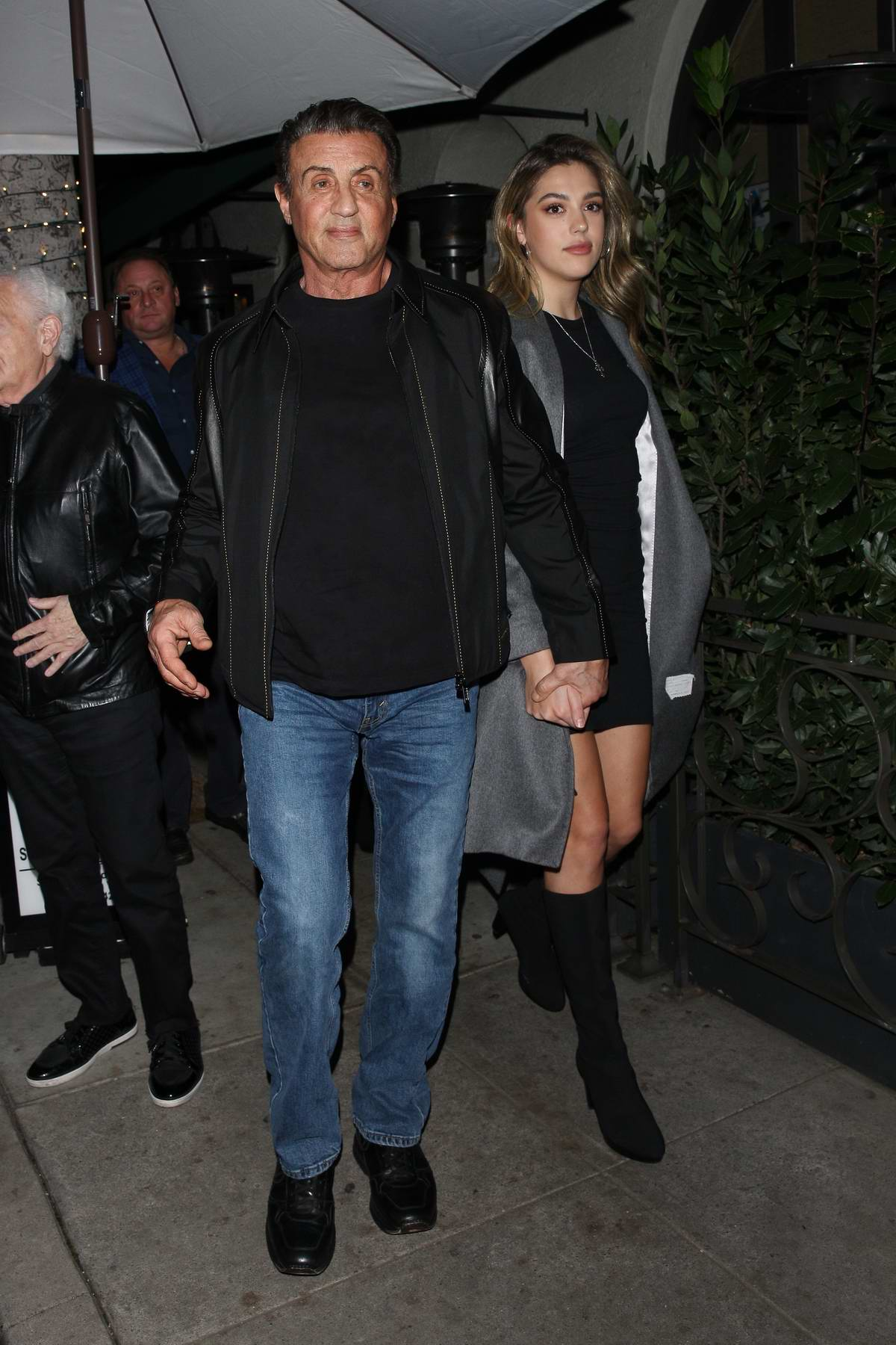 Sistine Stallone enjoys a family dinner with her parents ...