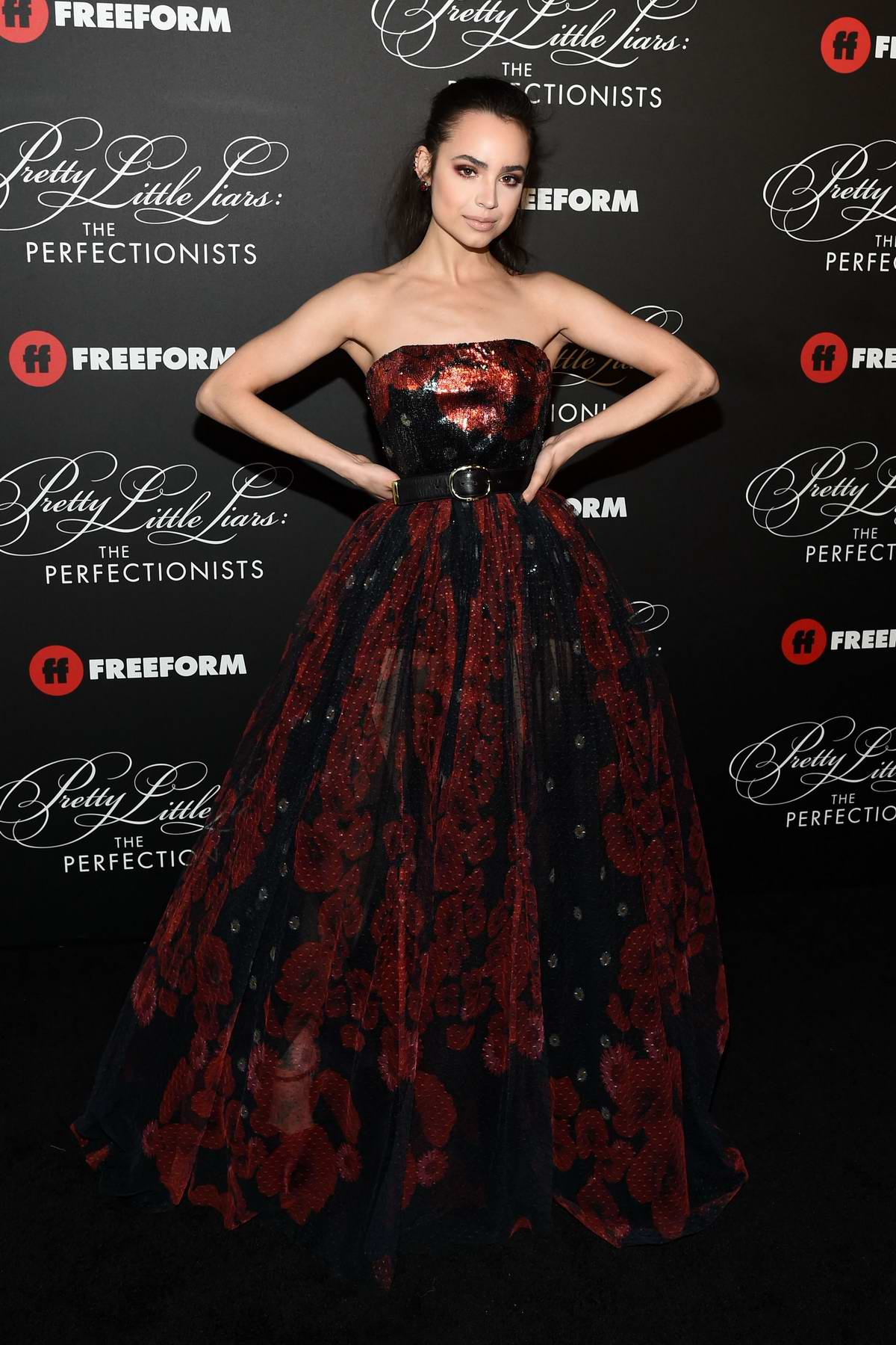 Sofia Carson attends 'Pretty Little Liars: The Perfectionists' premiere at Hollywood Athletic Club in Hollywood, California