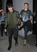 Sophie Turner and Joe Jonas enjoys a dinner date at Craig's in West Hollywood, Los Angeles