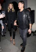 Stacy Keibler joins husband Jared Pobre for a dinner date at Craigs restaurant in West Hollywood, Los Angeles