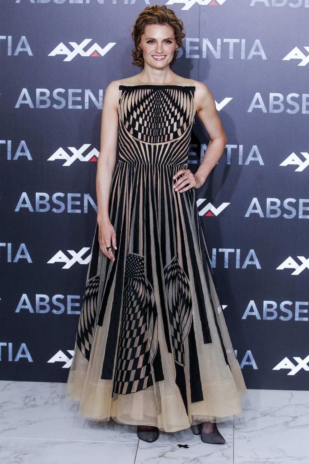 Stana Katic attends the presentation of Absentia season 2 at El Beatriz Auditorium in Madrid, Spain
