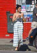Vanessa Hudgens grabs two coffee's to go with her mom Gina in Los Angeles