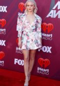 Zara Larsson attends the 2019 iHeartRadio Music Awards at Microsoft Theater in Los Angeles