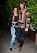 Alessandra Ambrosio and Nicolo Oddi attend a birthday celebration dinner with friends at Giorgio Baldi in Santa Monica, California