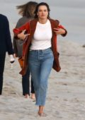 Alessandra Ambrosio enjoys the beach with her kids and ex Jamie Mazur in Malibu, California