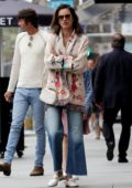 Alessandra Ambrosio heads to lunch with her family in Santa Monica, California