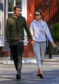 Alessandra Ambrosio keeps it comfy for a brunch outing with Nicolo Oddi in Brentwood, Los Angeles