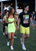 Alexis Ren and Milo Manheim arrive for an evening of fun at Coachella in Indio, California