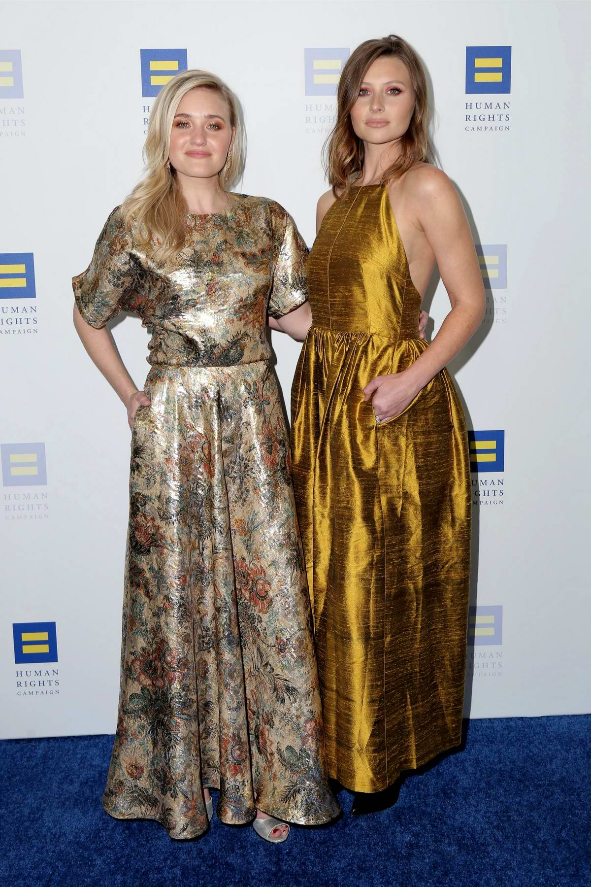 Aly and AJ Michalka attends The Human Rights Campaign 2019 Gala Dinner in Los Angeles