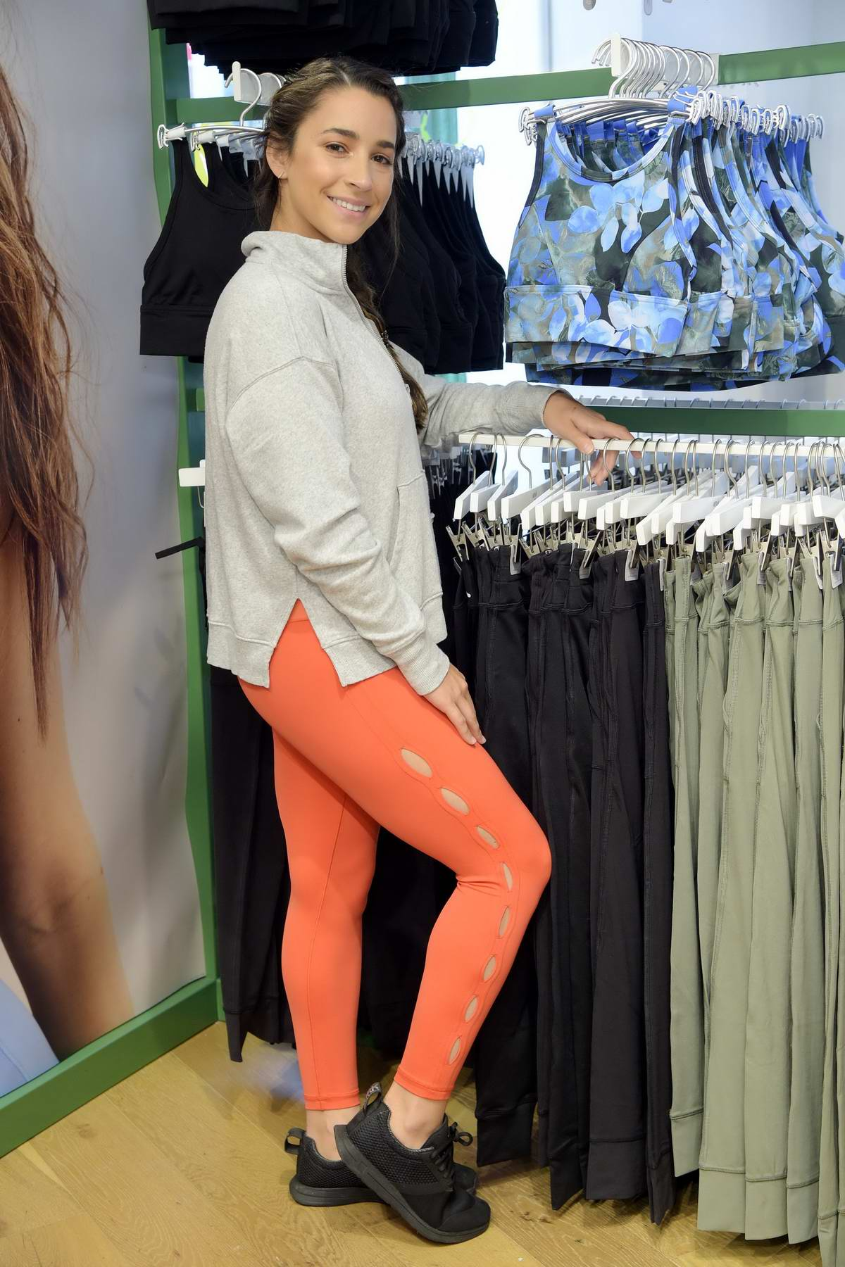 Aly Raisman at the launch of Aerie x Aly Raisman Collection in New York City