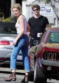 Amber Heard and Andy Muschietti visit a friend's house in Los Angeles