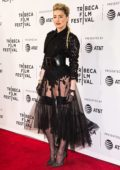 Amber Heard looks stunning in a black sheer dress as she attends 'Gully' screening at Tribeca Film Festival in New York City