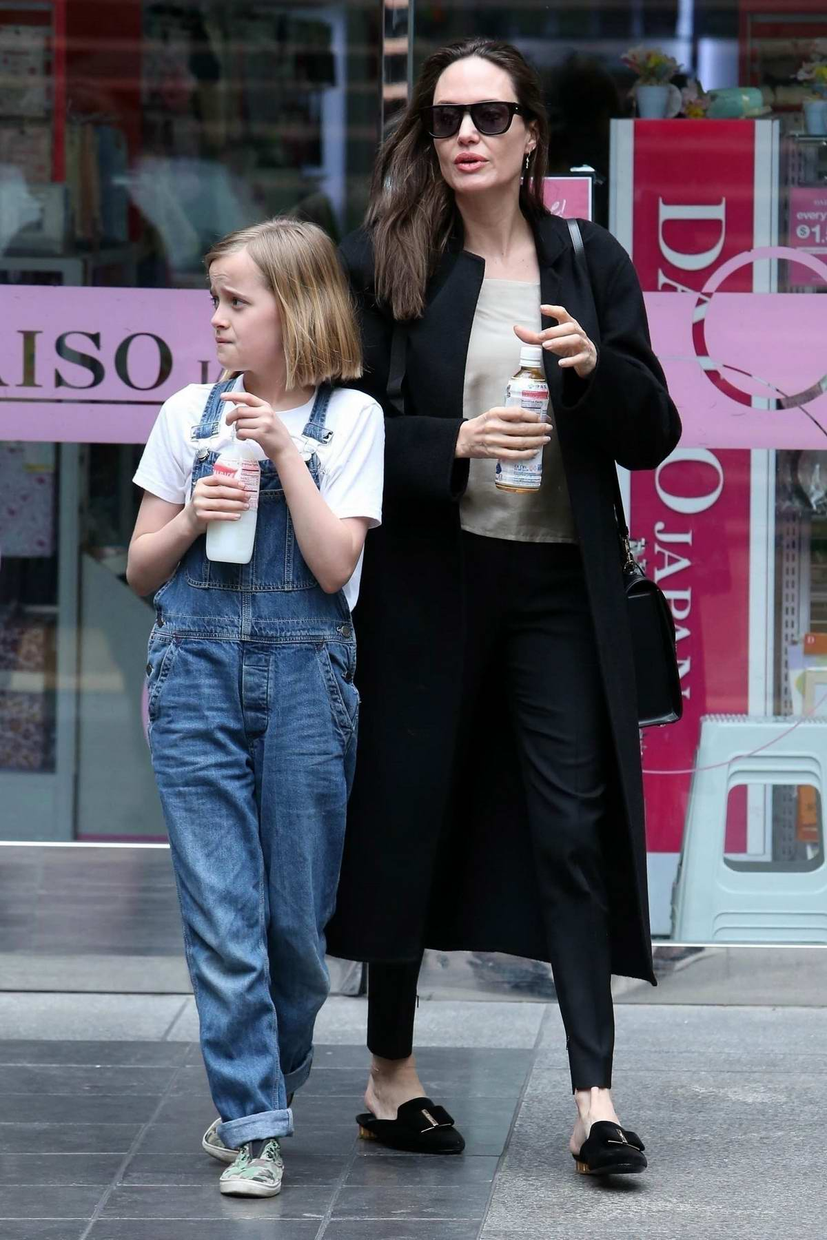 Angelina Jolie spends a day out with daughter Vivienne at the mall in Los Angeles
