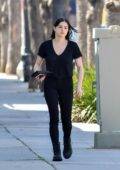 Ariel Winter spotted in all black as she stops by the Gray Studios in Studio City, Los Angeles