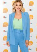 Ashley James makes an appearance on 'Good Morning Britain' TV show in London, UK