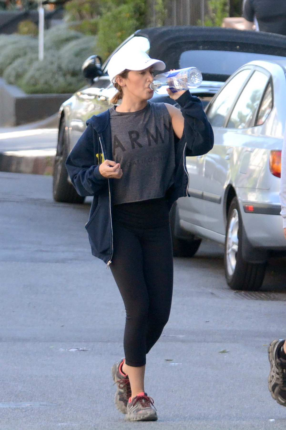 Ashley Tisdale and Christopher French out for a hike at Runyon Canyon in Hollywood, California