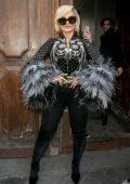 Bebe Rexha seen leaving the 'C a Vous' TV studio in Paris, France