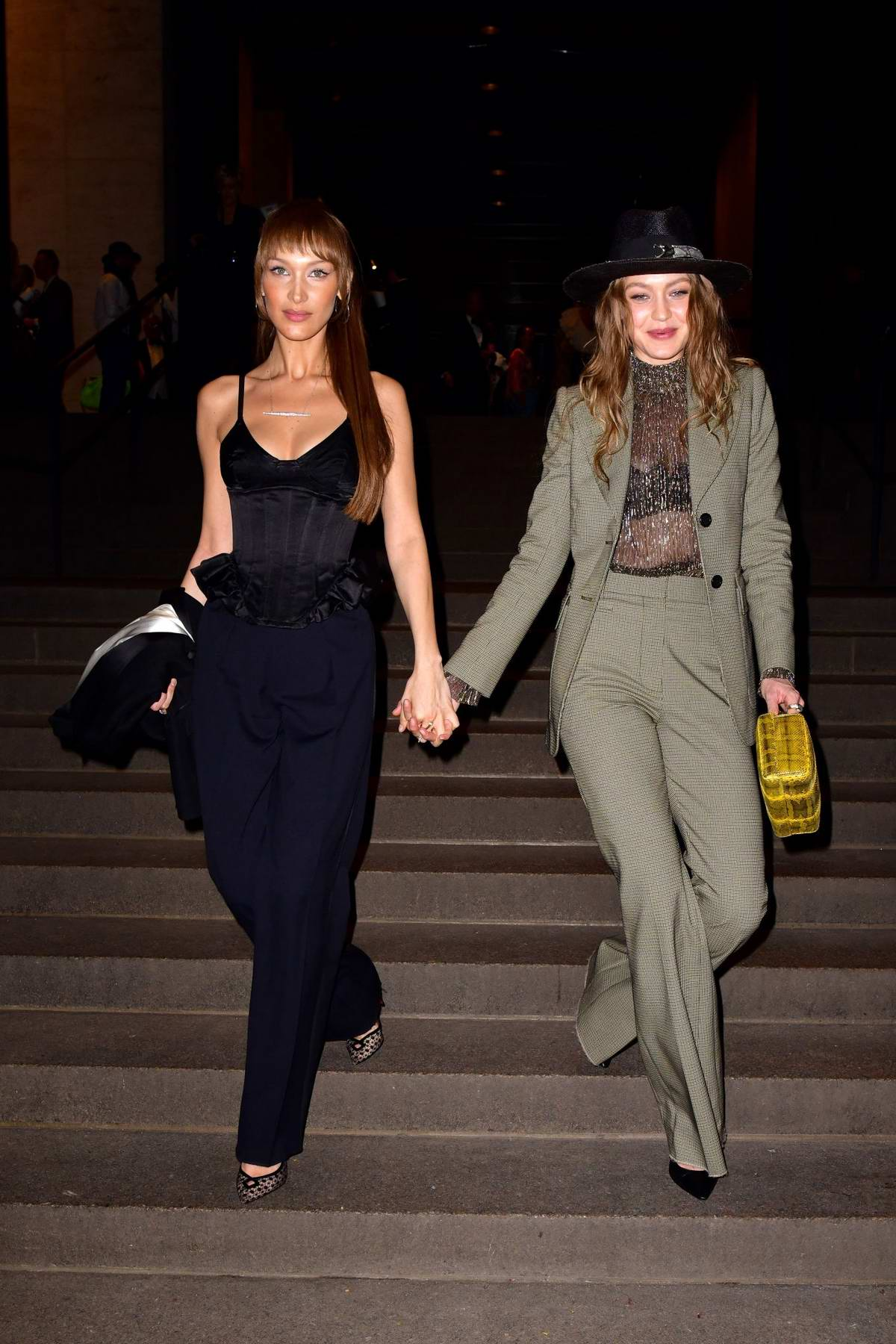 Bella and Gigi Hadid attends Mark Jacobs wedding reception in New York City