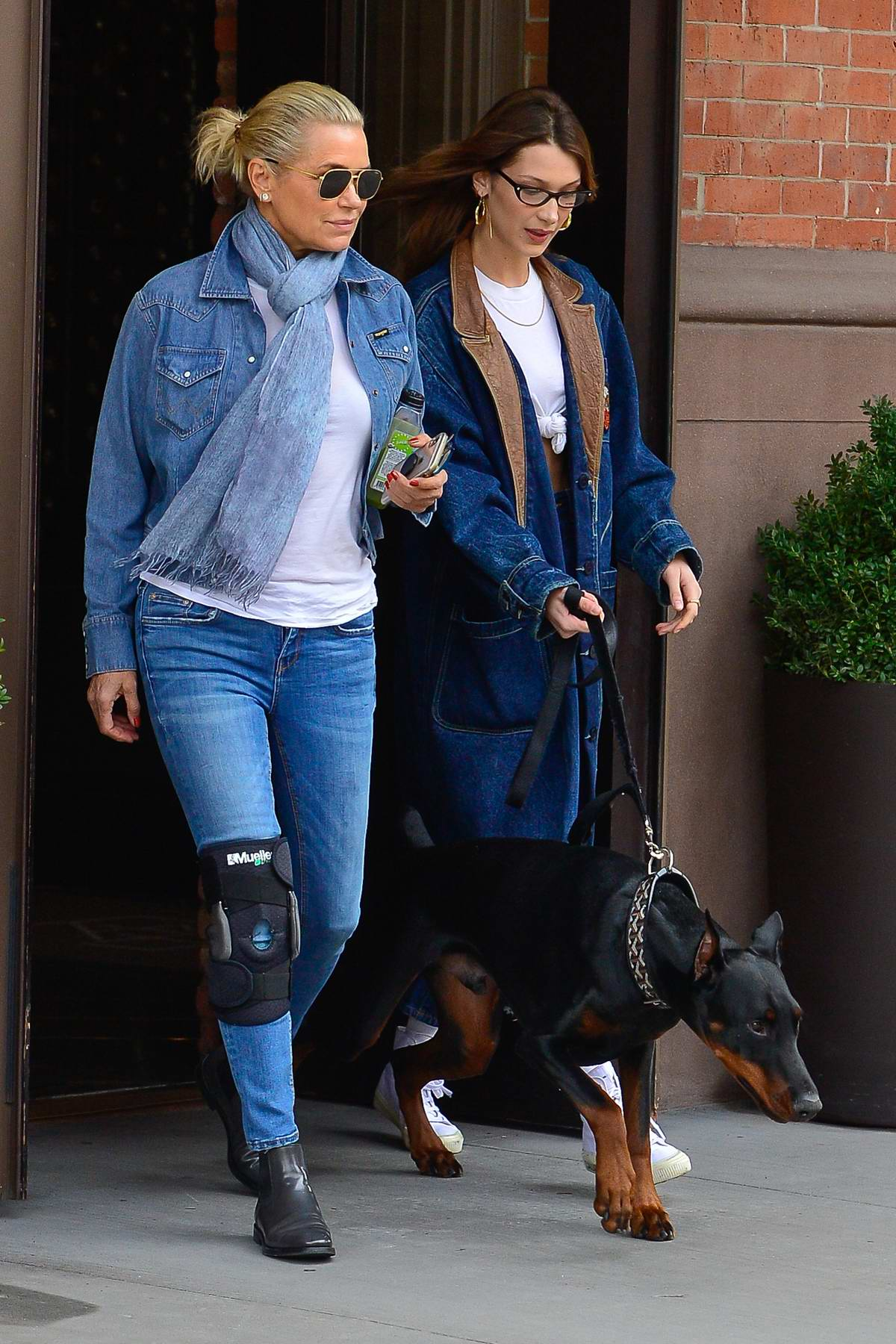 Bella Hadid Steps Out With Her Mother Yolanda Hadid And Her