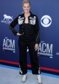 Beth Behrs attends the 54th Academy of Country Music Awards (ACM 2019) at MGM Grand in Las Vegas, Nevada