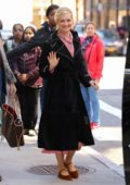 Beth Behrs is all smiles as she leaves AOL Build Series in New York City