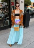Blanca Blanco is seen getting ready for Coachella with some retail therapy in Beverly Hills, Los Angeles