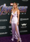Brie Larson attends the World Premiere of 'Avengers: Endgame' at the LA Convention Center in Los Angeles