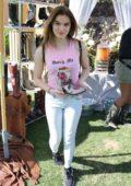 Brighton Sharbino seen outside Coachella Street Fair in Indio, California