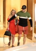 Britney Spears and boyfriend Sam Asghari seen leaving The Montage Hotel in Beverly Hills, Los Angeles