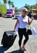 Brooke Hogan spotted checking out early from the Karokia Penisone Hotel in Palm Springs, California