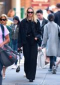 Candice Swanepoel sports all black as she steps out in New York City