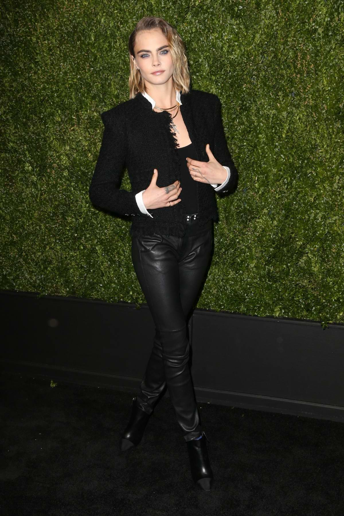 Cara Delevingne attends the 14th Annual Tribeca Film Festival Artists Dinner hosted by Chanel in New York City